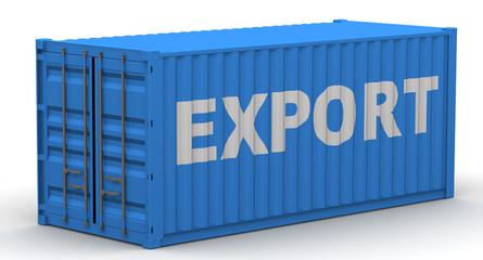 Экспорт (export). Надпись на грузовом контейнере