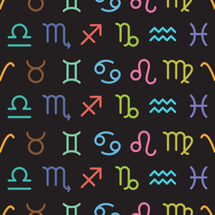 Horoscope seamless background