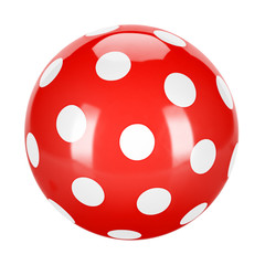 red dotted ball