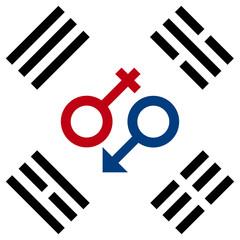 Символ любви в Южной Корее