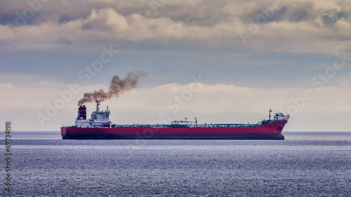 Plakat Red Oil Tanker