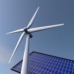 Hernieuwbare energie - zon en wind