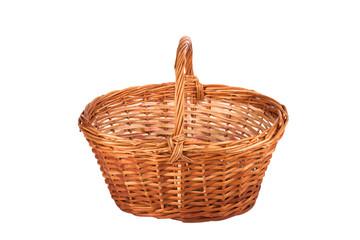 basket of mushrooms isolated on white background