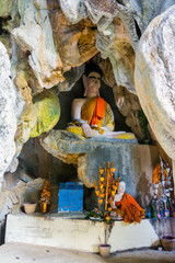 Buddhist statue in a cave, Vang Vieng
