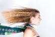 Frau, Haare, Wind, Fahrtwind, wehen, lang, blond, Gegenwind, Spa