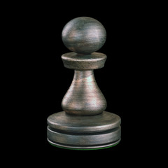Pawn Chess Piece. Clipping path included.