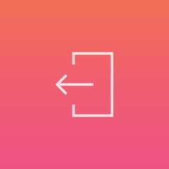 Exit / log out - Finely crafted line icons