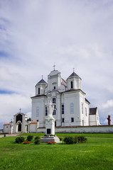 Catholic church in Kraziai Lithuania vertical photo