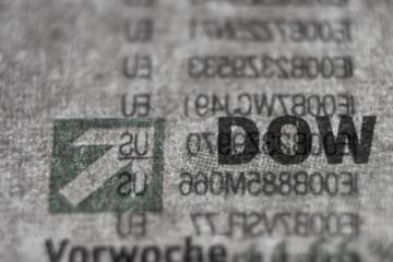 Dow Jones Newspaper Macro Concept