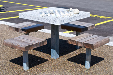 Tavolo per giocare a scacchi