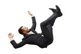 falling and screaming businessman