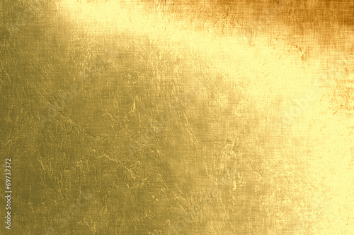 Leinwanddruck Bild Gold metallic background, linen texture