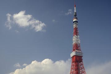 冬晴れの東京タワー