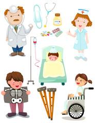 set of medical hospital set