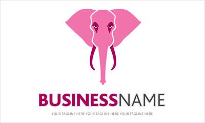logo elefante rosa, elefante, forza, potenza