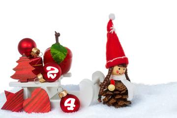Weihnachtsdekoration Heiligabend