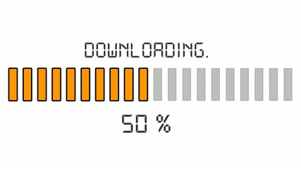 downloading progress bar - digital orange