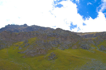 Mountain path, reaching for Grand Tournalin, Val D'Ayas - Alps