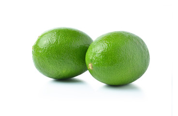 Lime on a white background.