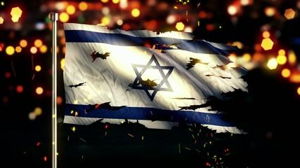 Israel Flag Torn Burned War Freedom Loop Animation