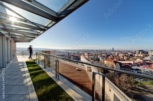 Modern building terrace - 69742722