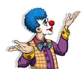 Colorful happy clown