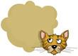character - Cat portrait, with speech bubble