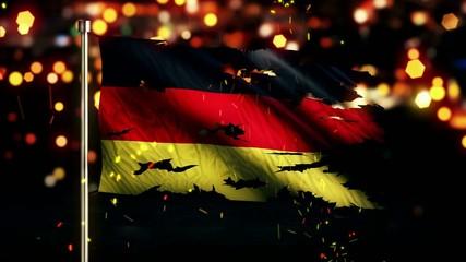 Germany Flag Torn Burned War Freedom Loop Animation