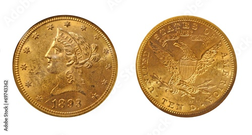 USA 1893 10 Dollars Gold Eagle - 69743362