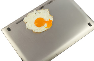 PC is a very hot and can hardly be fried eggs.