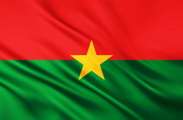 The National Flag of Burkina Faso