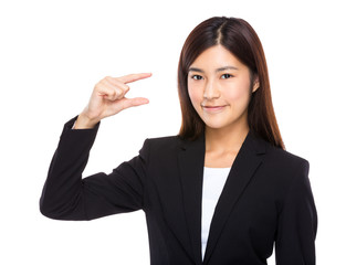 Businesswoman hold with small thing