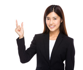 Asian businesswoman hold with small thing