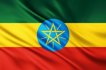 The National Flag of Ethiopia