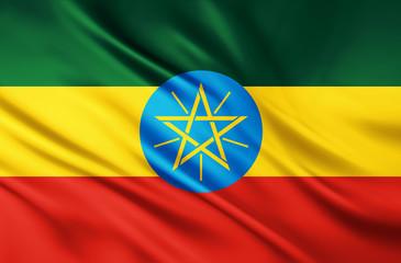 The National Flag of Ethiopia