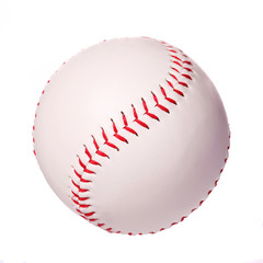 Baseball isolated on white. Ball with clipping path