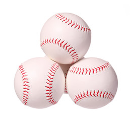 Baseball. Balls isolated on white, with clipping path