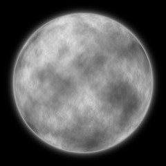 illustration of a very large moon at night
