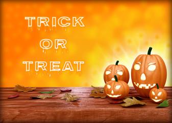 Halloween pumpkin lantern. Trick or treat