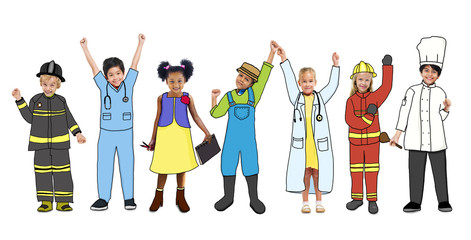 Multiethnic Children with Occupations Concepts