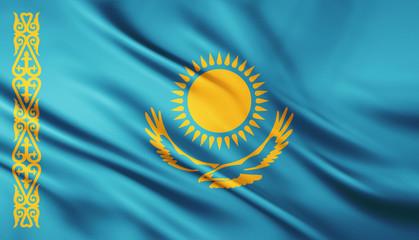 The National Flag of the kazakhstan