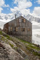 Albert Premier Hut in Alps at Tour glacier
