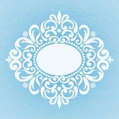 Winter concept frame.