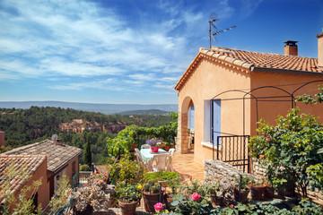 Roussillon village. Luberon Natural Regional Park