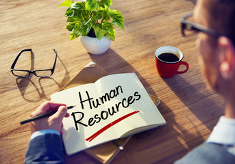 A Man with Human Resources Concept