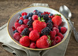 canvas print picture - bowl of fresh berries