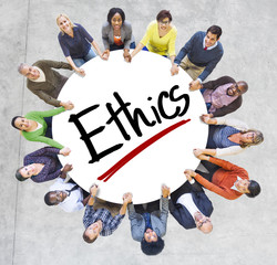 People Holding Hands Around Letter Ethics