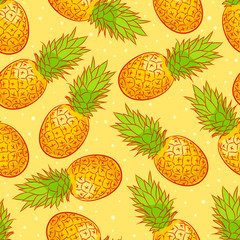 Cute background with pineapple