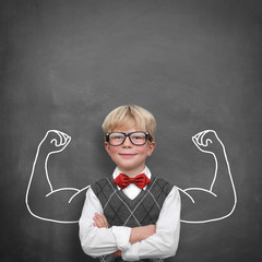 Schoolchild with muscle