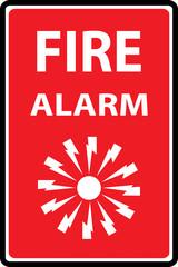 Fire alarm emergency signs